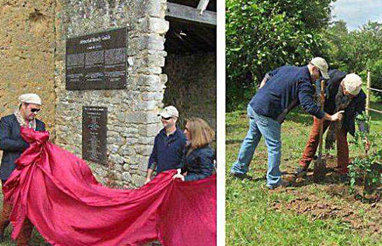 Commemorative ceremony and placement of a historic plaque