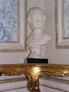 Marble bust Mozart 19th century