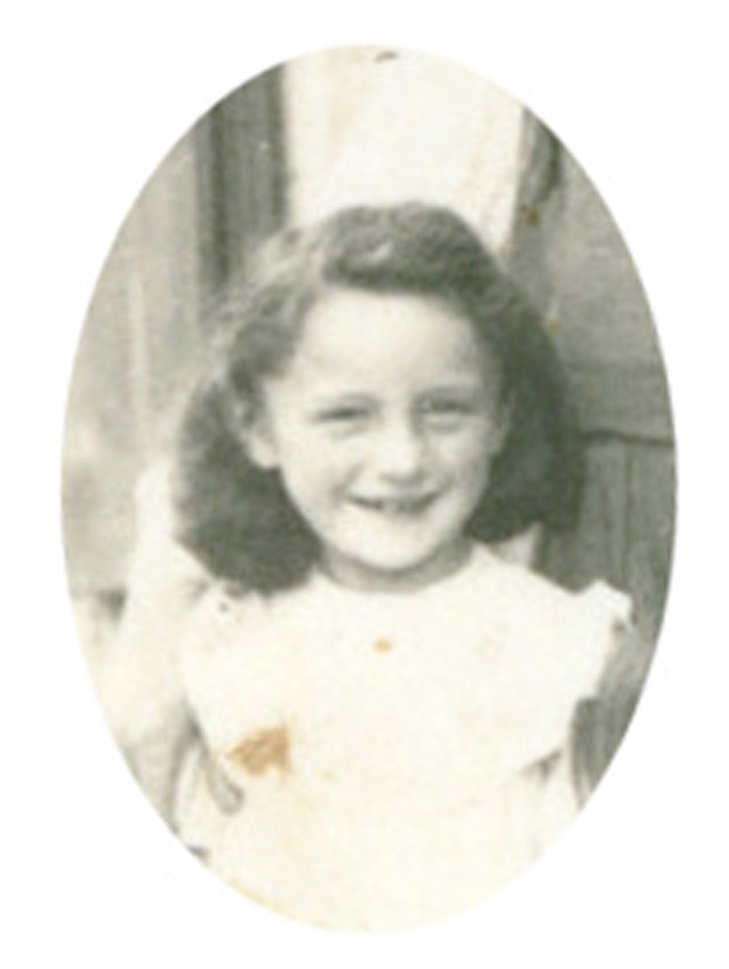 Marie Saint 10 years old in 1944