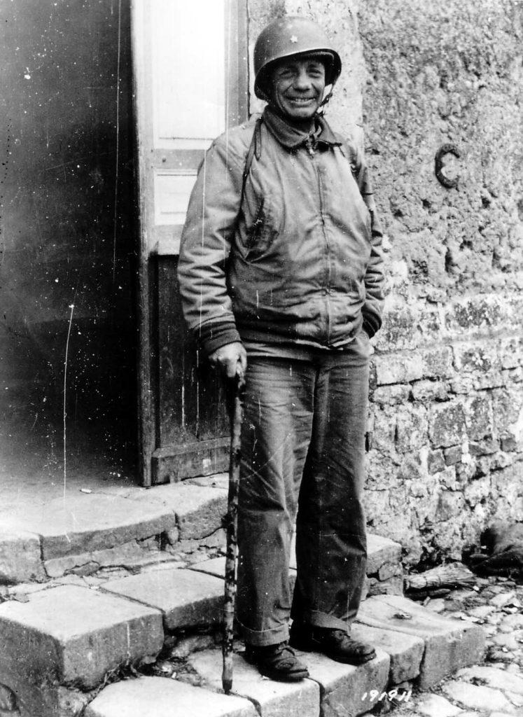 Theodore Roosevelt im Jahr 1944 zu Méautis