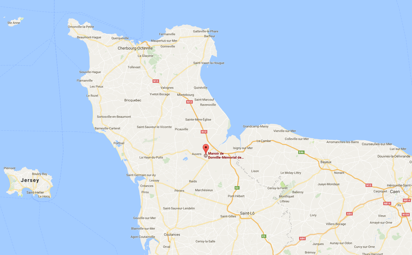 Situer le Mémorial Bloody Gulch en Normandie