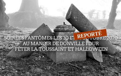 Soirées fantômes les 30 et 31 octobre 2020 au manoir de Donville pour fêter la Toussaint et Halloween